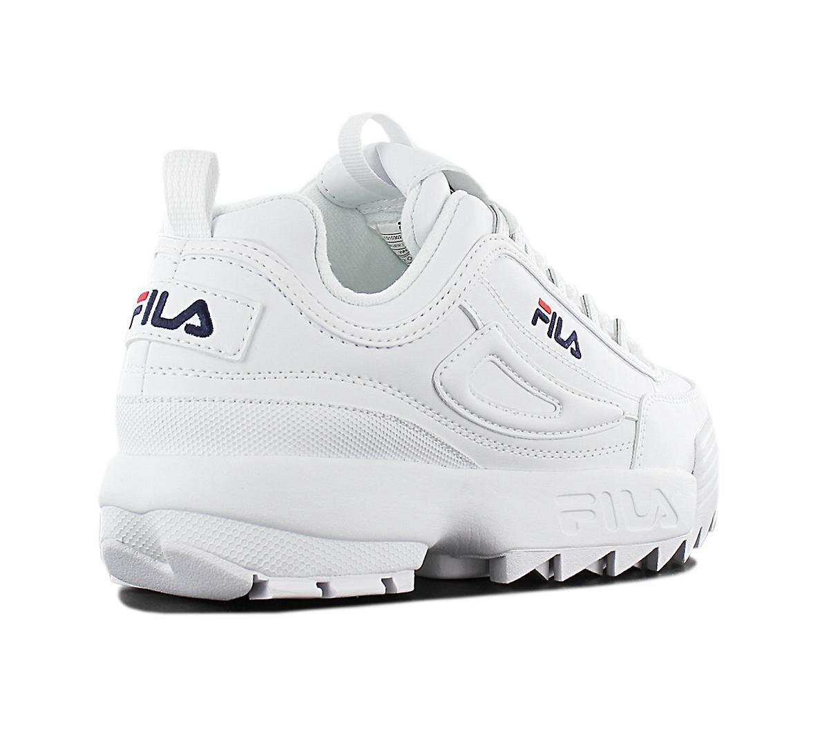 Fila disruptor lav W 1010302.1 FG kvinners sko hvit sneaker sport sko