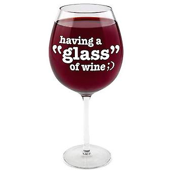 Bigmouth having a 'glass' gigantic wine glass