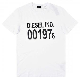 Diesel T-DIEGO-001978 Logo Printed T-Shirt White
