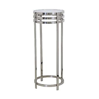 Light & Living Side Table Pillar 40x100cm Rings Nickel And Glass