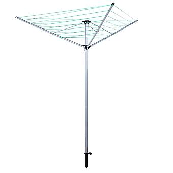 OurHouse Powder Coated 3 Arm Rotary Airer, Steel, Silver, 26 m
