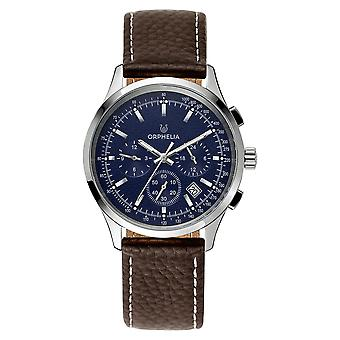 ORPHELIA Men Dual Time Watch Brown Leather OR81702