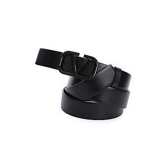 Valentino Garavani Ty2t0q90isr0no Men's Black Leather Belt
