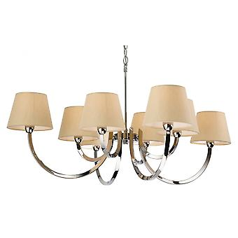 Firstlight Triumph Modern Polished Chrome Candle Cream Ceiling Pendant Light Fitting