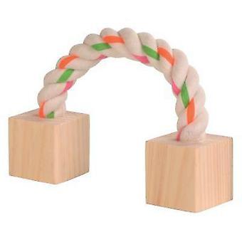 トリクシーウッドロープブロック (小型ペット、玩具)