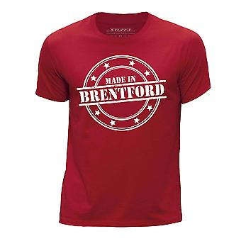 STUFF4 Boy's Round Neck T-Shirt/Made In Brentford/Red