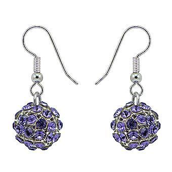 Tanzanite Crystal Mesh Ball Earrings EMB112.5