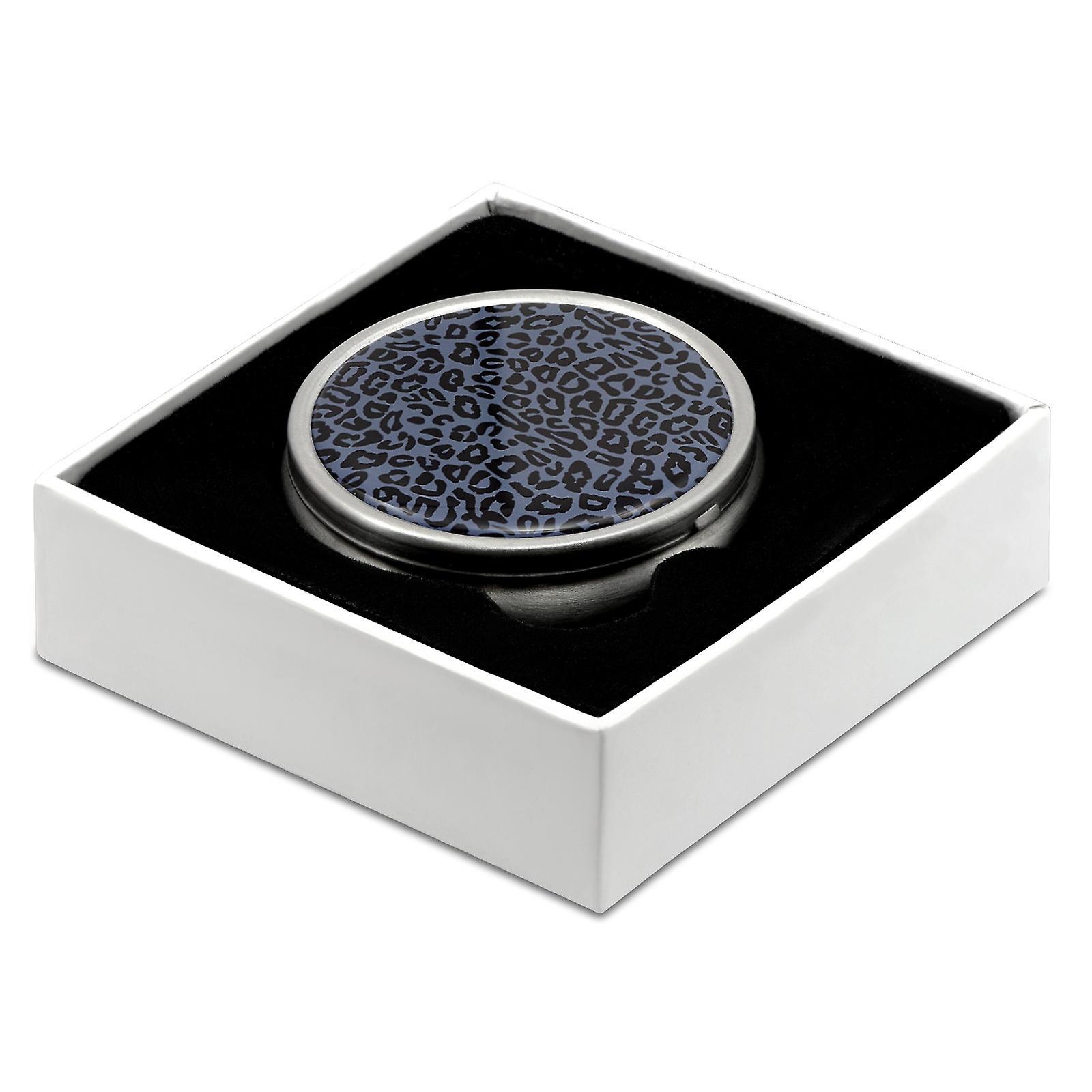 Pill Box with Leopard Print