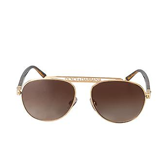 Dolce and Gabbana DG2235 02/13 57 Aviator Sunglasses