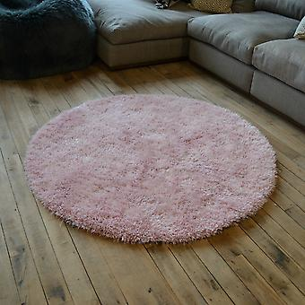 Chicago Shaggy Rugs In Rose Pink