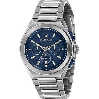 Maserati - Wristwatch - Men - TRICONIC 43mm CHR BLUE DIAL BR SS - R8873639001