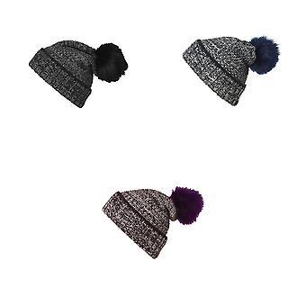 Миртл-Бич Мужская/Женская помпон Меланжевая шапка