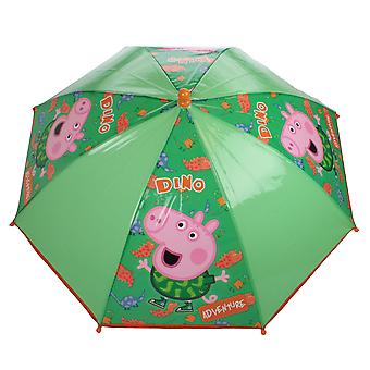 George Pig Dino Adventure Mini Dome Umbrella Green