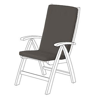 Gardenista® Grey Water Resistant Highback Seat Pad for Garden Chair, Pack of 6