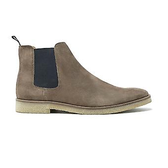 Wandeling Londen hornchurch chelsea boot in taupe suède