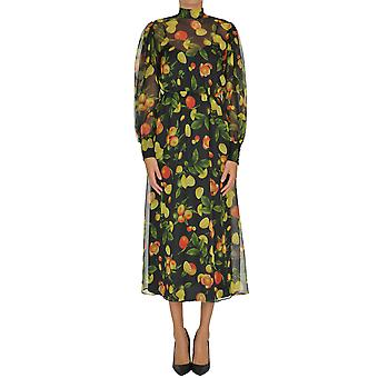 Msgm Ezgl020088 Women's Multicolor Polyester Dress