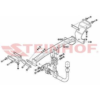 Steinhof Automaattinen irrotettava vetokoukku (pystysuora) Hyundai i30 Estate 2012-2017