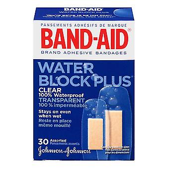 Band-aid water block plus bandages, clear, assorted sizes, 30 ea
