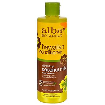 Alba botanica hawaiian conditioner, drink it up coconut milk, 12 oz