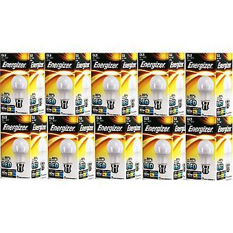 10 x Energizer LED GLS luz bombilla BC/B22 bayoneta tapa 9.2w = 60w 820lm luz del día [clase energética A +]