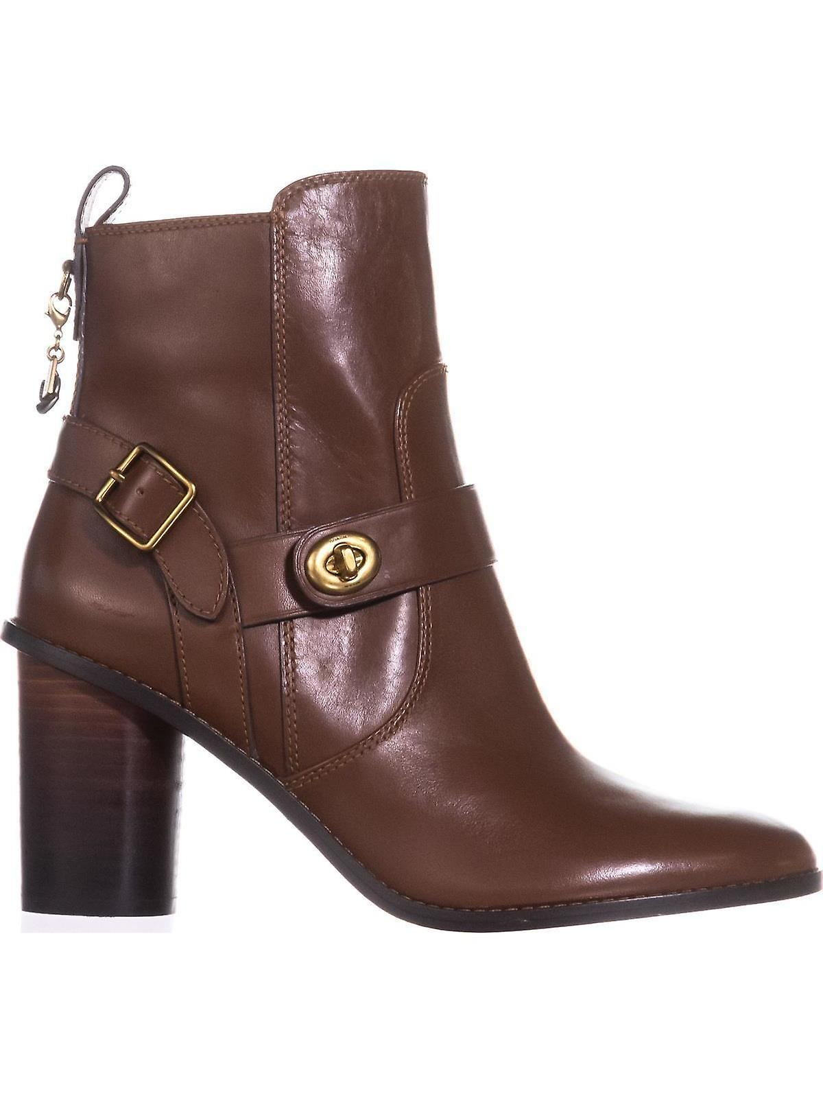 Coach Womens Moto Leather Closed Toe Ankle Clog Boots Nplee