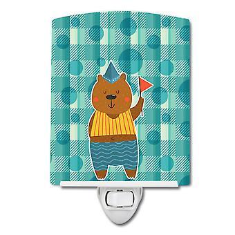 كارولينز كنوز BB6769CNL الاحتفال الدب السيراميك ليلة ضوء