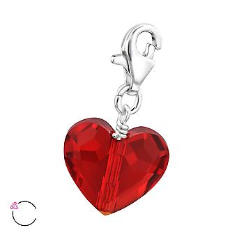 Heart Crystal From Swarovski® - 925 Sterling Silver Charms - W28992x