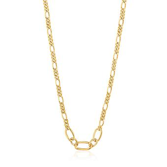 Ania Haie Chain Reaction Shiny Gold Figaro Chain Necklace N021-03G