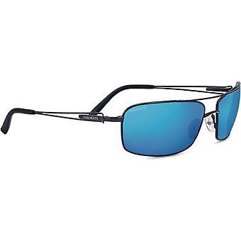 Serengeti Dante Sunglasses Black Pearl Frame Polarized 555nm Blue Lens