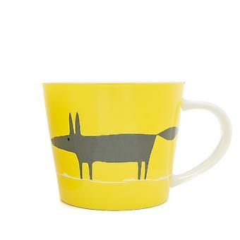 Scion Mr Fox Yellow and Charcoal Large Mug