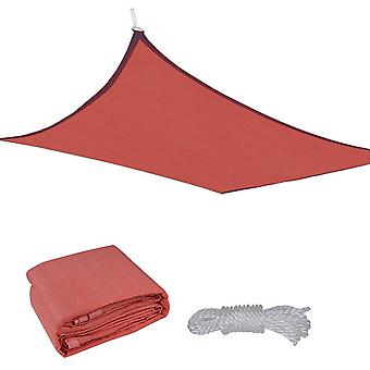 Yescom 16x16' Square Sun Shade Sail Top Outdoor Canopy Patio Cover Red