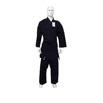 Yamasaki Gold Deluxe Brushed Canvas Karate Uniform Black 14 Oz