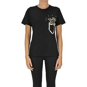 Sweet Matilda Ezgl314045 Women's Black Cotton T-shirt