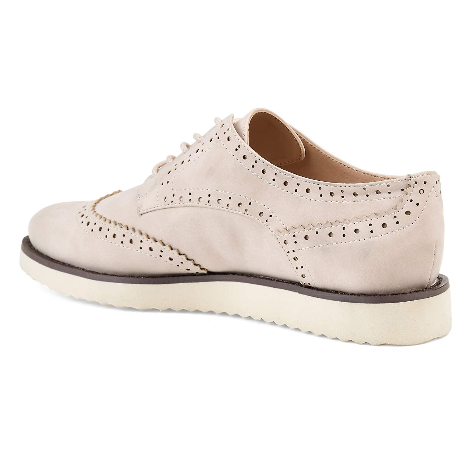 Brinley Co Comfort Womens Wingtip Lace-up Loafer SQY2J