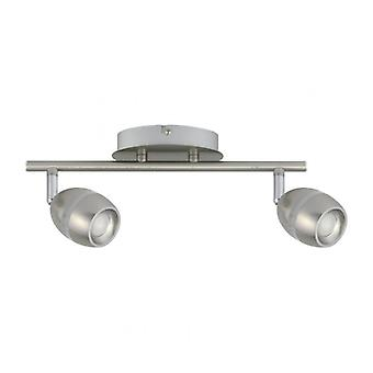 Techno Silver Spotlight 2 Bulbs 16.5 Cm