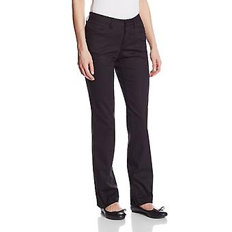 Dickies Women's Curvy Straight Leg Stretch Twill Pant, Black, 14 Regular