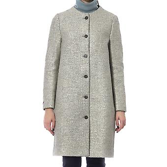 Peserico Round Neck Lined Single Breasted Coat