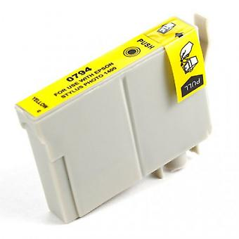 RudyTwos Replacement for Epson Owl Ink Cartridge Yellow Compatible with Stylus Photo 79, 1400, 1410, 1500W, P50, PX650, PX660, PX700W, PX710W, PX720WD, PX730WD, PX800, PX800FW, PX810FW, PX820FWD, PX83