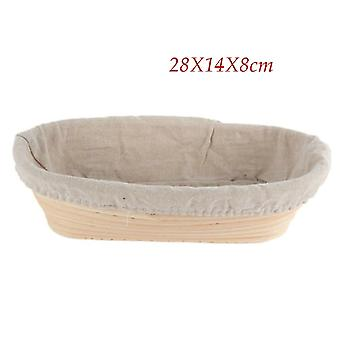 Hot Bread Fermentation Rattan Basket - Country Bread Baguette Dough Mass