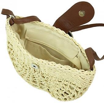 Woven Raffia Saddle Bag