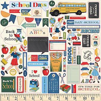 Carta Bella School Days 12x12 Inch Element Sticker