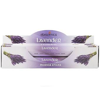 Etwas anderes Elemente Weihrauch Stick 6 Pack Display Set Lavendel