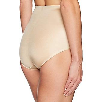 Marke - Arabella Women's Shine Microfiber Brief mit Spacer, Sand, Klein