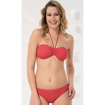 Aqua Perla Womens Noumea Red Bikini Bottom