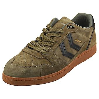hummel Hb Team Mens Casual Trainers in Dark Green