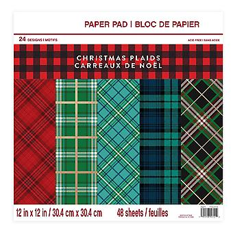Craft Smith Christmas Plaids 12x12 Inch Paper Pad