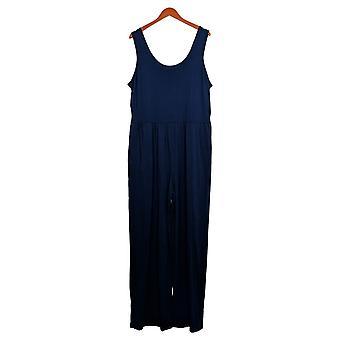 AnyBody Women's Jumpsuit Cozy Knit Tank Navy Blue A374515