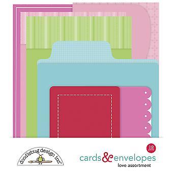 Doodlebug Design Love Cards & Envelopes (12pcs) (6604)