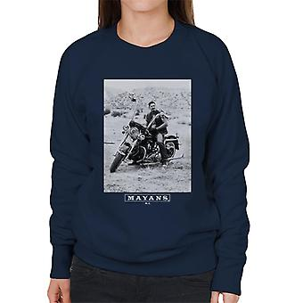 Mayans M.C. Motorcycle Club Ezekiel Reyes EZ Black And White Women's Sweatshirt