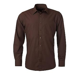 James and Nicholson Mens Longsleeve Poplin Shirt